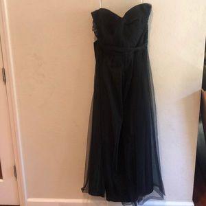 Black David's Bridal Plus Size Dress
